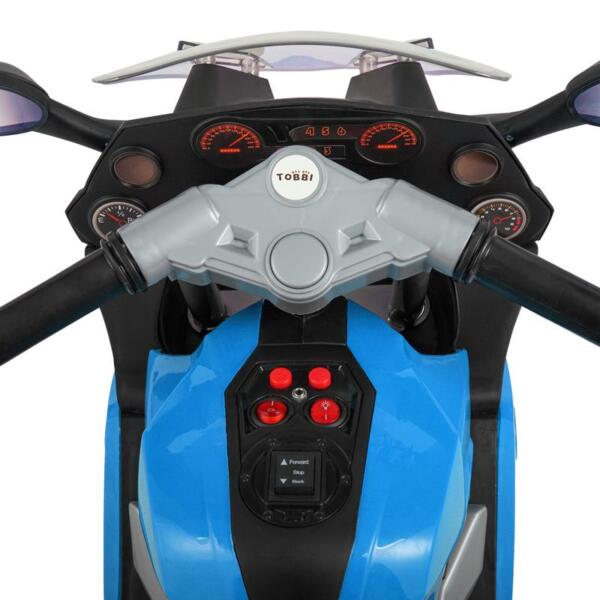 Ride On Toy Racing Motorcycle for Kids, Blue ride on toy racing motorcycle for kids blue 8