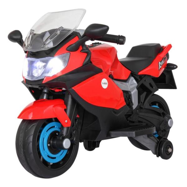 Electric Ride On Motorcycle Toy for Kids, Red ride on toy racing motorcycle for kids red 14