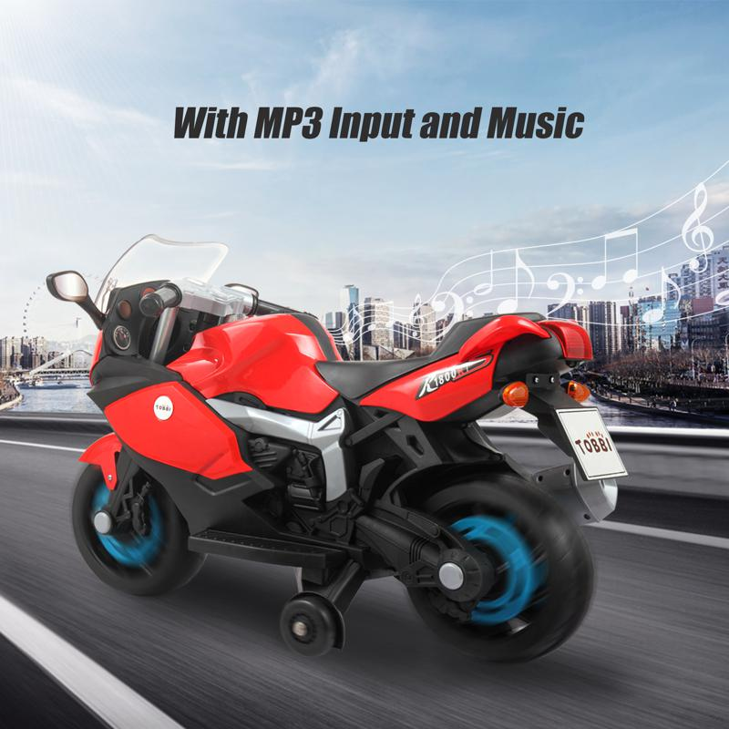 Electric Ride On Motorcycle Toy for Kids, Red ride on toy racing motorcycle for kids red 20 1