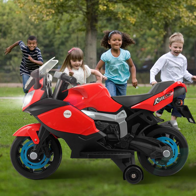 Electric Ride On Motorcycle Toy for Kids, Red ride on toy racing motorcycle for kids red 21 1