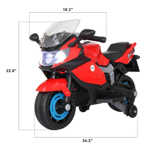 Electric Ride On Motorcycle Toy for Kids, Red ride on toy racing motorcycle for kids red 23