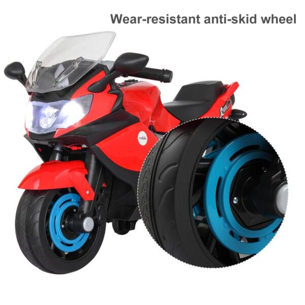 Electric Ride On Motorcycle Toy for Kids, Red ride on toy racing motorcycle for kids red 28