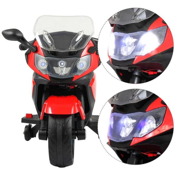 Electric Ride On Motorcycle Toy for Kids, Red ride on toy racing motorcycle for kids red 29 1