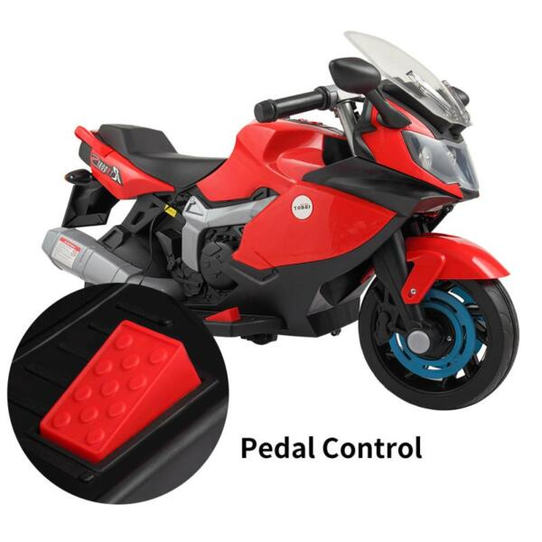Electric Ride On Motorcycle Toy for Kids, Red ride on toy racing motorcycle for kids red 30 1