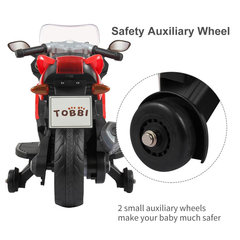 Electric Ride On Motorcycle Toy for Kids, Red ride on toy racing motorcycle for kids red 31 3