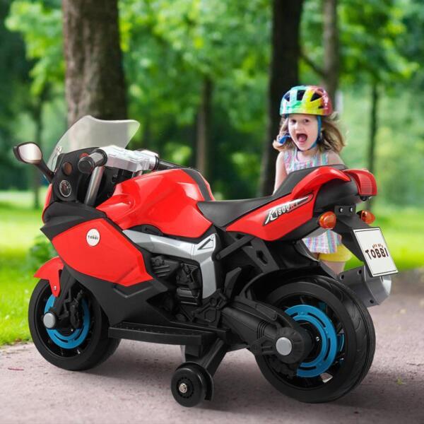 wearing helmets to ride kids motorcycle