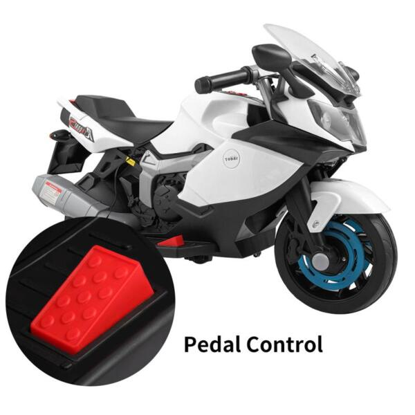 Ride On Toy Racing Motorcycle for Kids, White ride on toy racing motorcycle for kids white 30