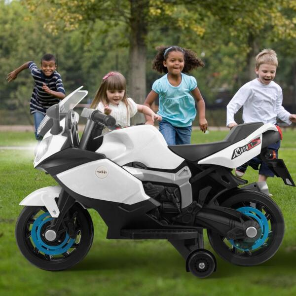 Ride On Toy Racing Motorcycle for Kids, White ride on toy racing motorcycle for kids white 33