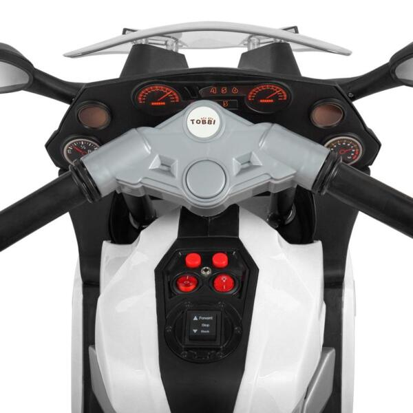 Ride On Toy Racing Motorcycle for Kids, White ride on toy racing motorcycle for kids white 8