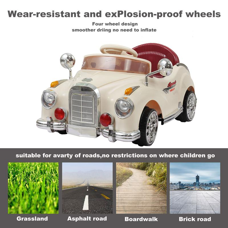 6V Electric Baby Cars with Remote rome contral ride on car beige 10 1