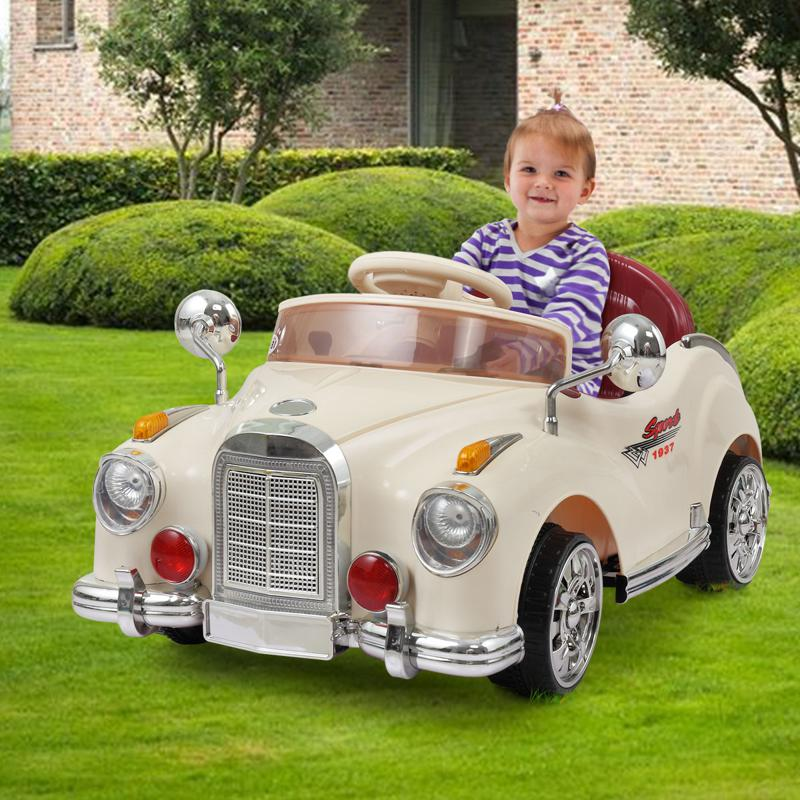 6V Electric Baby Cars with Remote rome contral ride on car beige 13