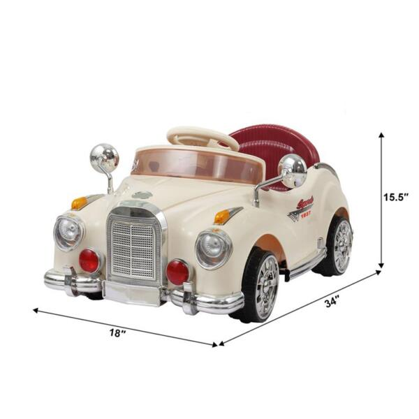 Rome Contral Ride On Car, Beige rome contral ride on car beige 30