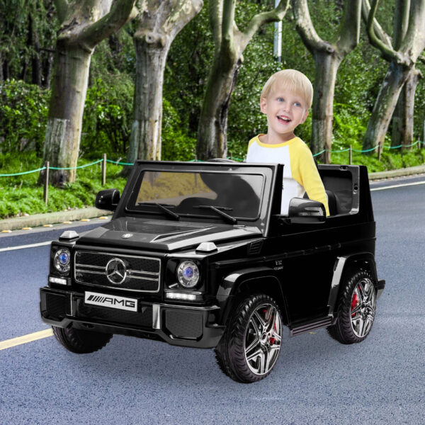 12V Benz AMG G63 Electric Ride On Car for Kids with Remote Control, Black th17a0769 cj 3 e1629871489290