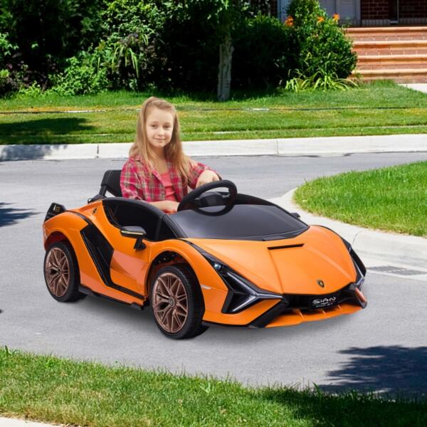 12V Licensed Lamborghini Sian Battery Powered Kids Ride On Car with Remote Control, Orange th17a0805 cj 6