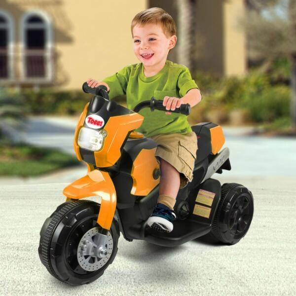 6V Kids Motorcycle Battery Powered Motorcycle for Kids, Orange th17e0357 cj 4