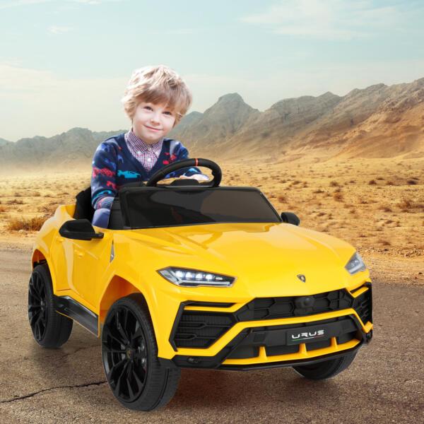 12V Lamborghini Ride On Car With Remote Control, Yellow th17e0501 cj1
