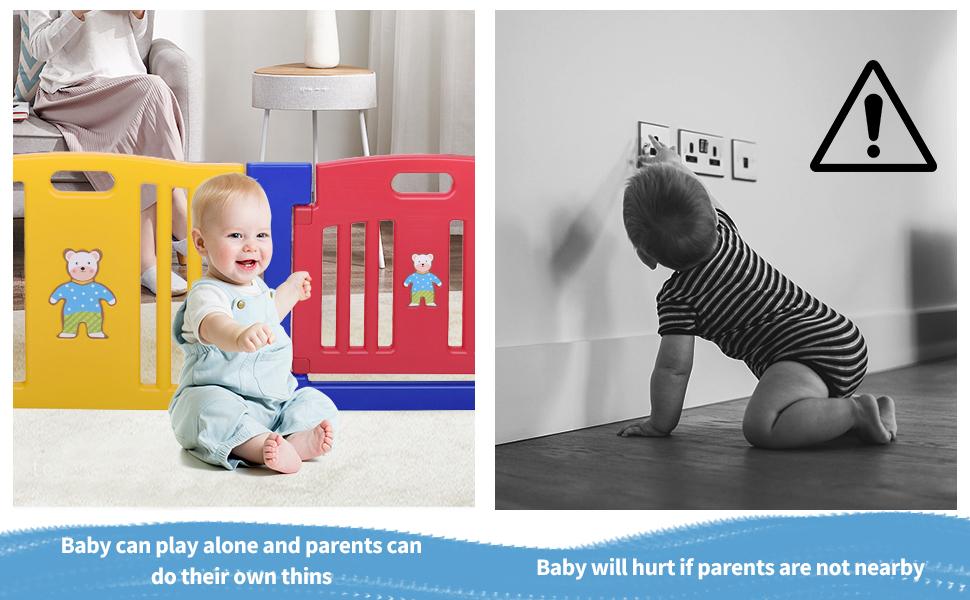Toddlers Playpen 8 Panel Play Yard with Door th17k0325ajasmine970x6002 1