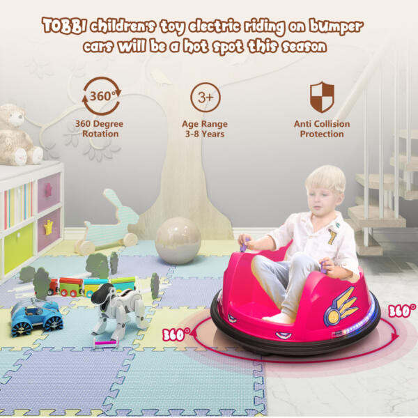 6V Kids Ride on Bumper Car Electric Rechargeable Vehicle Toy th17k0865 zt4