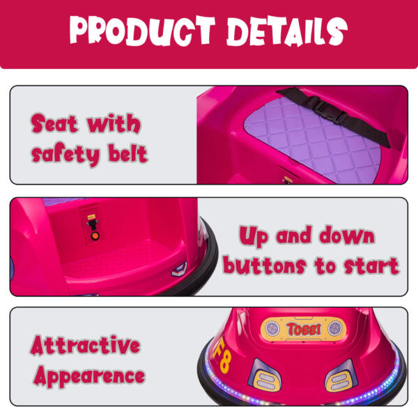 6V Kids Ride on Bumper Car Electric Rechargeable Vehicle Toy th17k0865 zt5