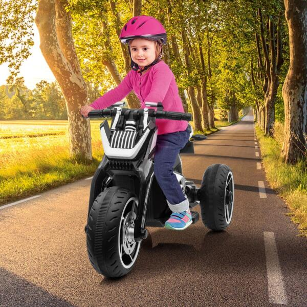 6V Battery Power Ride On Motorcycle for Kids, Black th17l0614 zt15