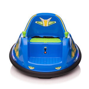 this blue kids bumper car is great for your babies
