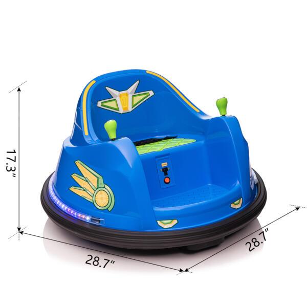 6V Electric Bumper Car for Kids w/ 360 Spin th17l0866 cct