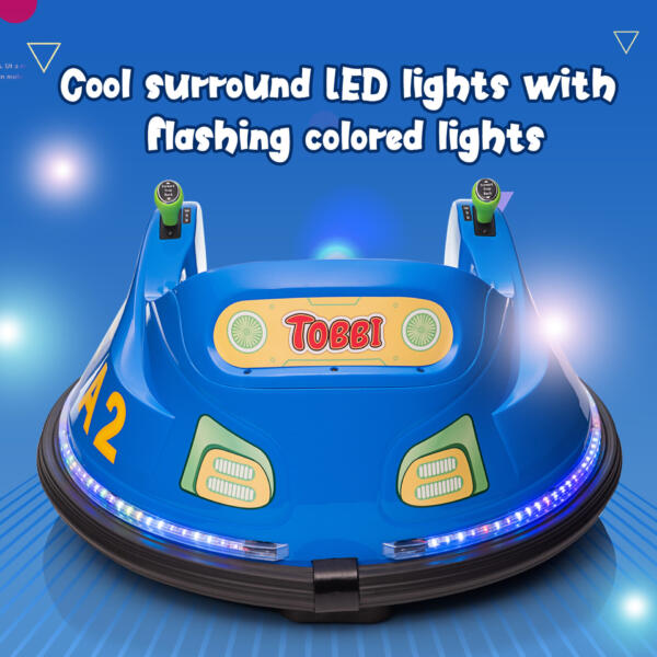 6V Electric Bumper Car for Kids w/ 360 Spin th17l0866 zt1