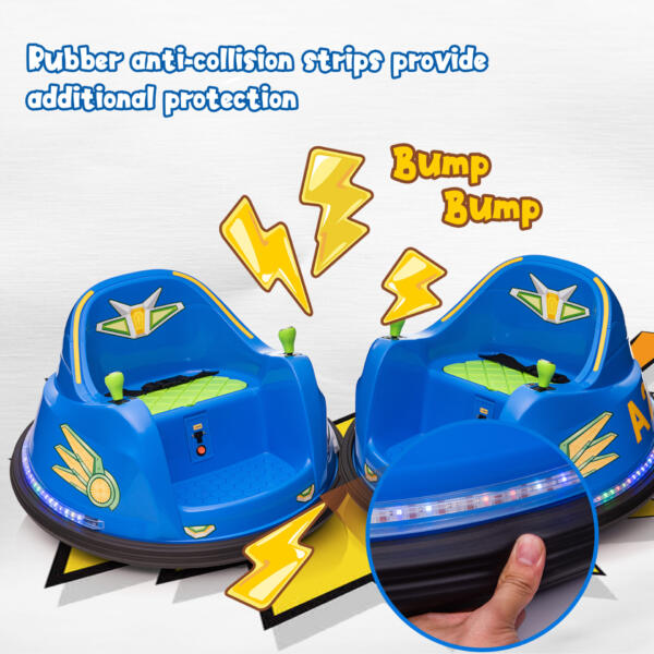 6V Electric Bumper Car for Kids w/ 360 Spin th17l0866 zt2