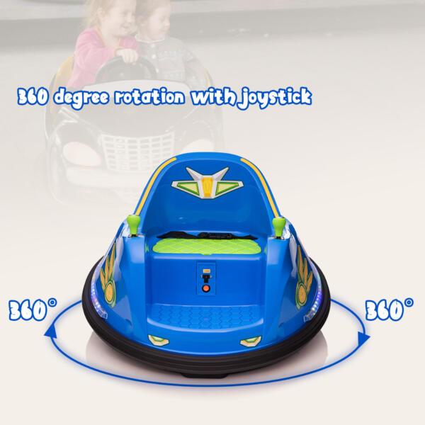 6V Electric Bumper Car for Kids w/ 360 Spin th17l0866 zt3