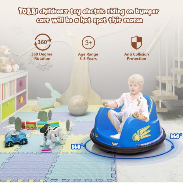 6V Electric Bumper Car for Kids w/ 360 Spin th17l0866 zt4