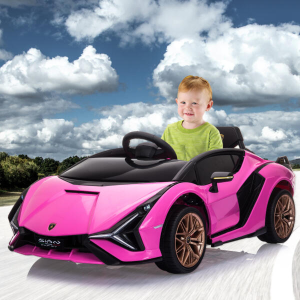 12V Kids Car Licensed Lamborghini Sian with Remote Control for Girls th17m0651 cj 3