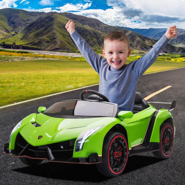 12V Lamborghini Ride On Car With Remote Control 2 Seater, Green th17m0759 cj6