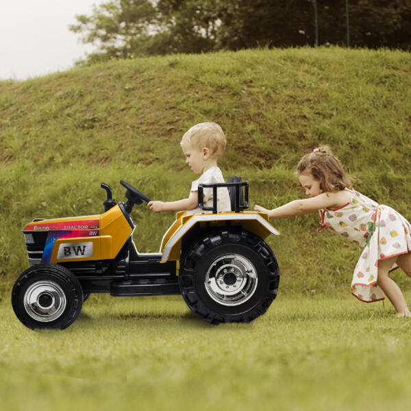 12V Kids Ride On Tractor with Remote Control for 3-6 Years, Yellow th17r0582 zt18