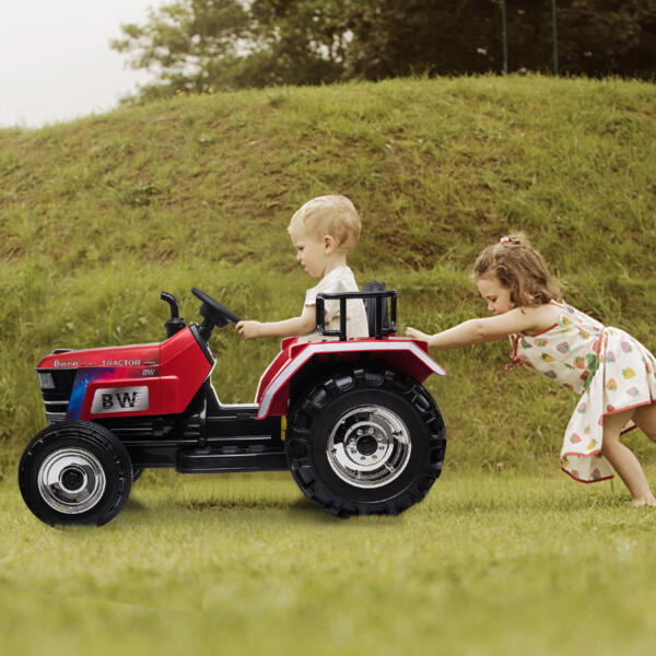 12V Kids Ride On Tractor with Remote Control for 3-6 Years, Red th17s0547 zt8