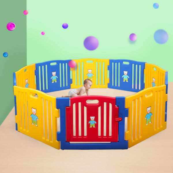 Large Baby Playpen 10 Panel Play Yard th17t0404 10 1