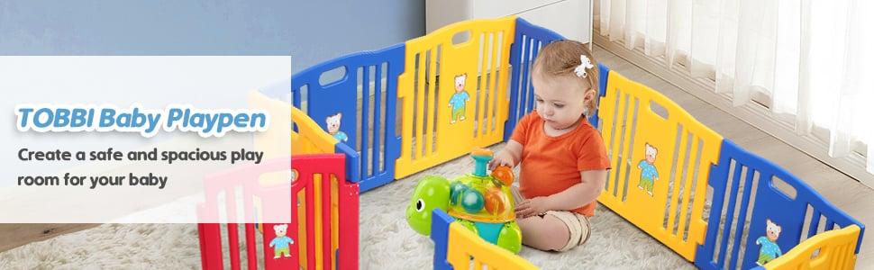 Large Baby Playpen 10 Panel Play Yard
