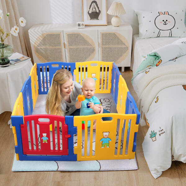 Large Baby Playpen 10 Panel Play Yard th17t0404zt