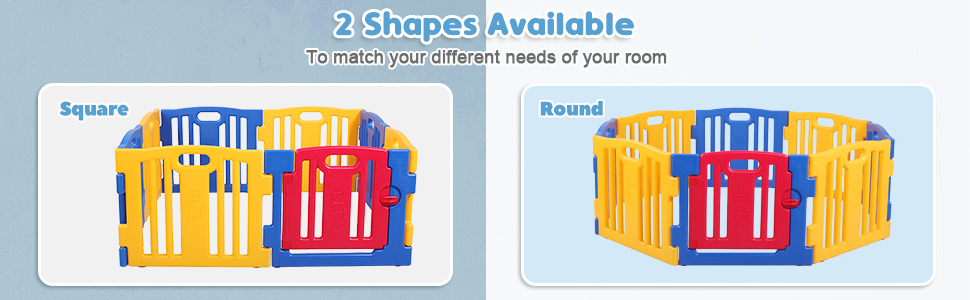 Portable Play Yard Baby Gate 8 Panel