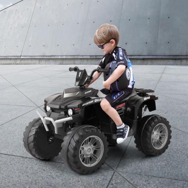 12V Battery Powered Kids Atv Ride On, Black th17x0425 34