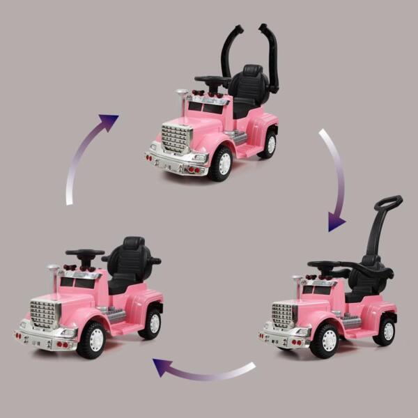 Toddler Push Car Kids Electric Ride-on Car, Pink toddler push car kids electric ride on car pink 1