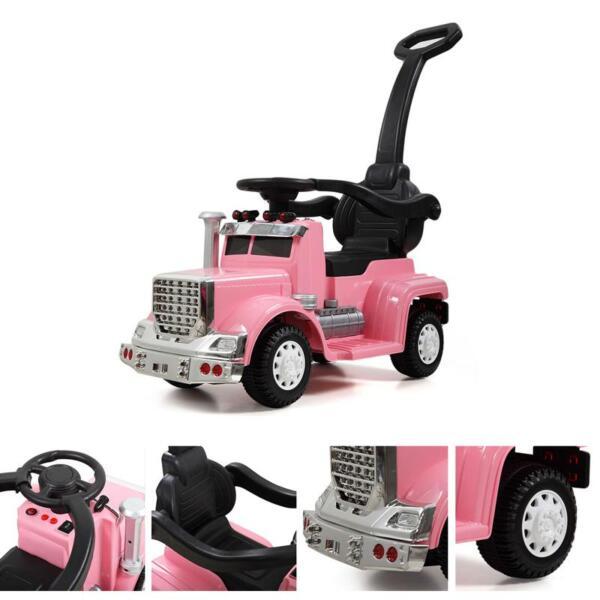 Toddler Push Car Kids Electric Ride-on Car, Pink toddler push car kids electric ride on car pink 12