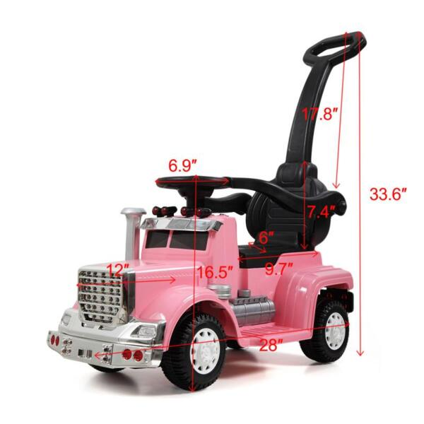 Toddler Push Car Kids Electric Ride-on Car, Pink toddler push car kids electric ride on car pink 18 1