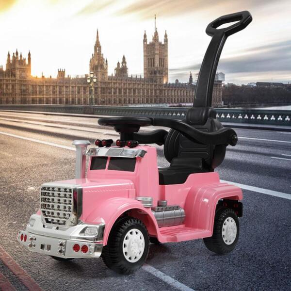 Toddler Push Car Kids Electric Ride-on Car, Pink toddler push car kids electric ride on car pink 2