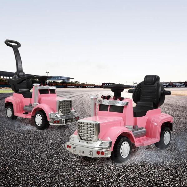 Toddler Push Car Kids Electric Ride-on Car, Pink toddler push car kids electric ride on car pink 3