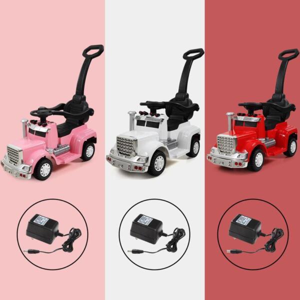Toddler Push Car Kids Electric Ride-on Car, Pink toddler push car kids electric ride on car pink 4