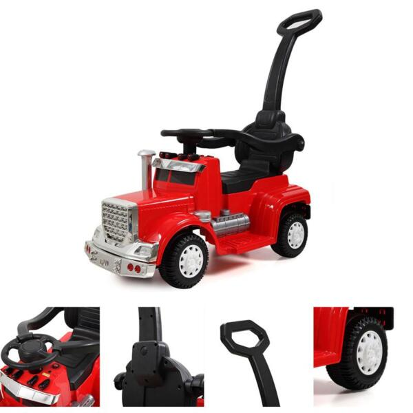 Electric Push Riding Toys Ride on Push Car for Toddlers, Red toddler push car kids electric ride on car red 5