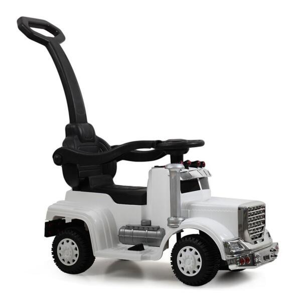 Toddler Push Car Kids Electric Ride-on Car, White toddler push car kids electric ride on car white 12 1