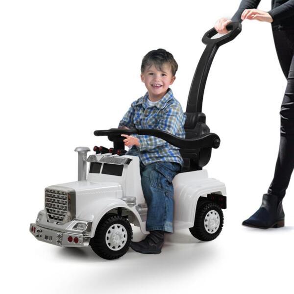 Toddler Push Car Kids Electric Ride-on Car, White toddler push car kids electric ride on car white 5