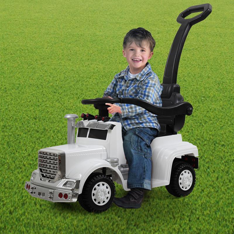 Electric Push Riding Toys Ride on Push Car for Toddlers, White toddler push car kids electric ride on car white 7 1 push car